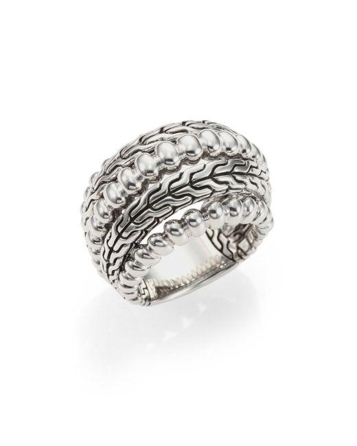 John Hardy | Metallic Bedeg Sterling Silver Dome Ring | Lyst
