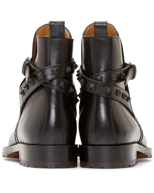 Valentino   Black Ankle Boots for Men   Lyst