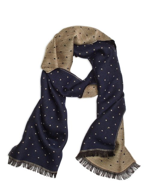 Brooks Brothers | Natural Mini Polka Dot Scarf for Men | Lyst