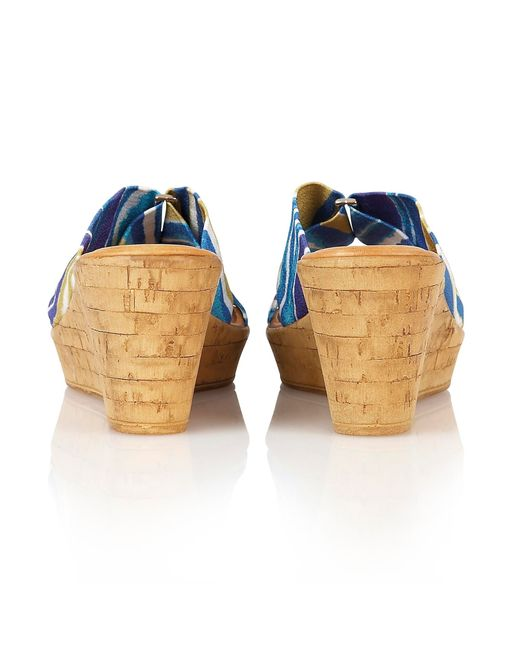 Lotus | Blue Luisa Wedge Sandals | Lyst