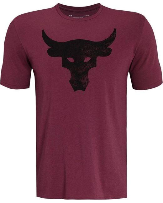 Under Armour Purple Project Rock Brahma Bull Graphic T-shirt for men