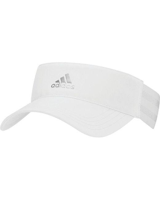 c1c87aca ... Adidas - White 3-stripes Golf Visor - Lyst