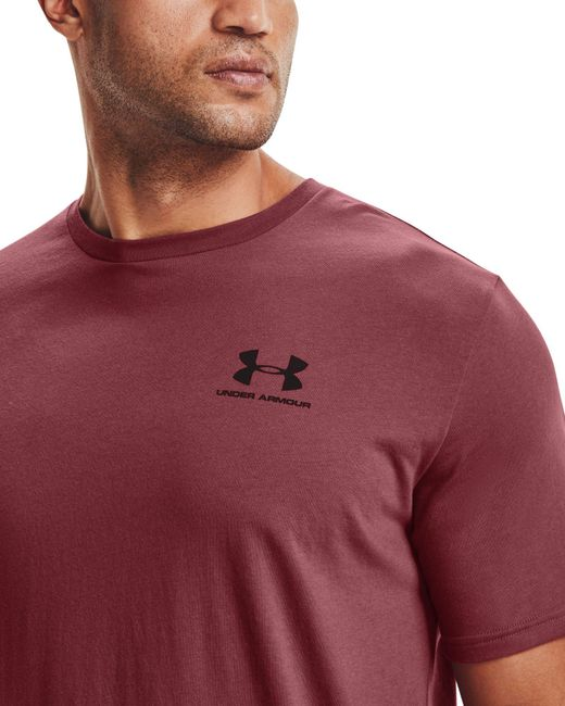 Under Armour Red Sportstyle Left Chest Graphic T-shirt (regular And Big & Tall) for men