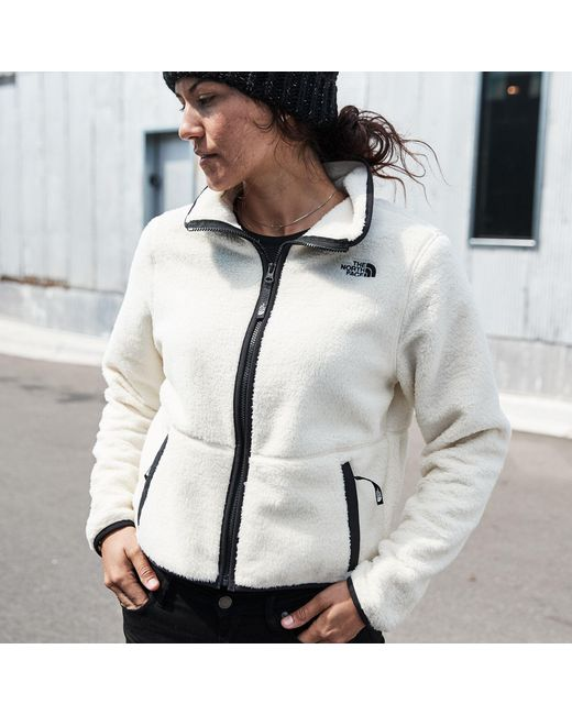 The North Face Synthetic Dunraven Sherpa Crop In Black Save 30 Lyst