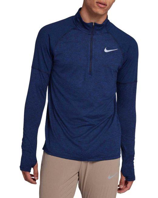 2b294d25477dd Nike - Blue Element 1 2 Zip Running Shirt for Men - Lyst ...