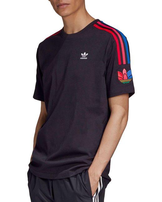 Adidas Black Originals 3d Trefoil 3-stripes T-shirt for men