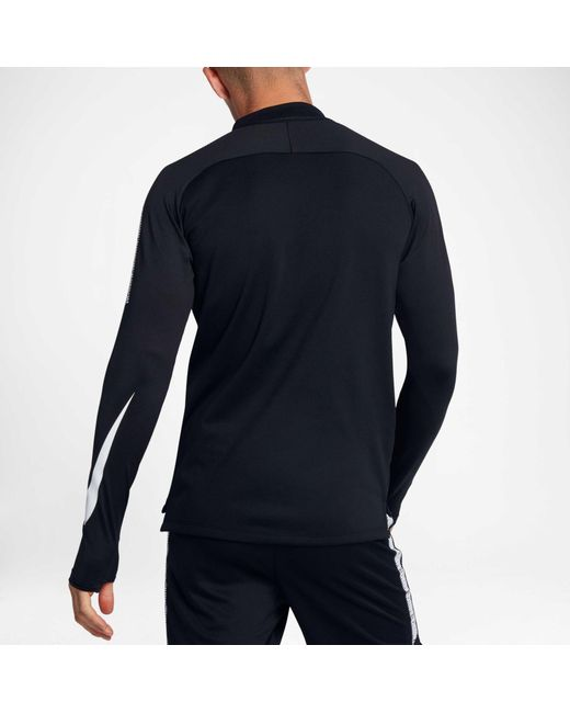 Lyst Nike Dry Squad Drill Soccer T Shirt In Black For Men