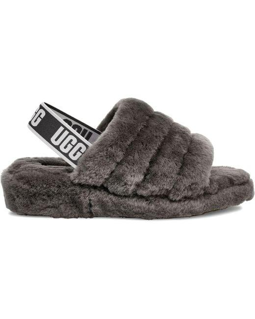 1c4ed24073dd Ugg - Gray Fluff Yeah Slippers - Lyst ...