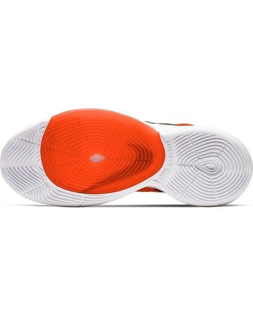 Nike Orange Zoom Rize Basketball Shoes for men