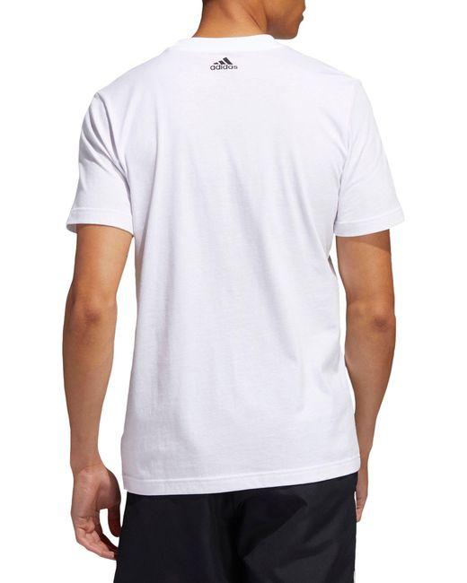 Adidas White Badge Of Sports Soccer T-shirt for men