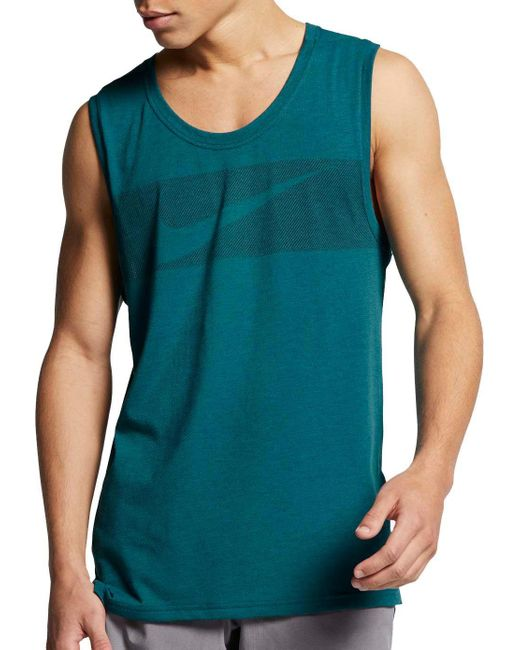 7119791b60c90 Nike - Green Reathe Hyper Dry Graphic Tank Top for Men - Lyst ...