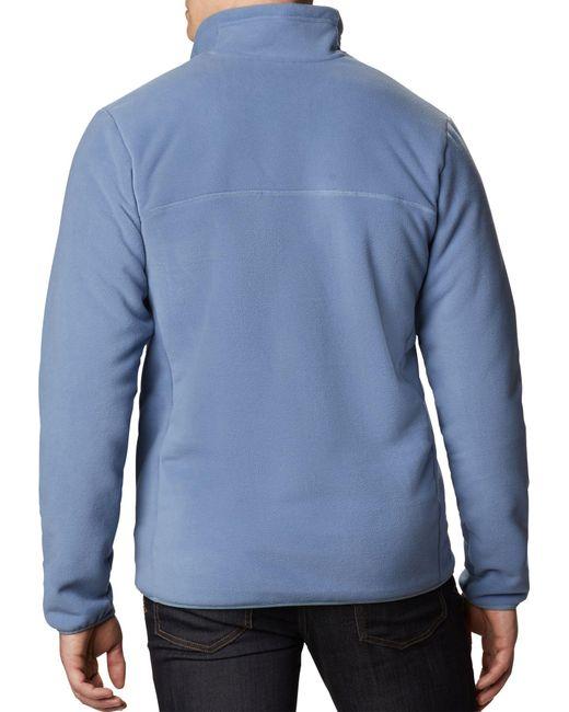 Columbia Blue Winter Pass Full-zip Sherpa Fleece Jacket (regular And Big & Tall) for men