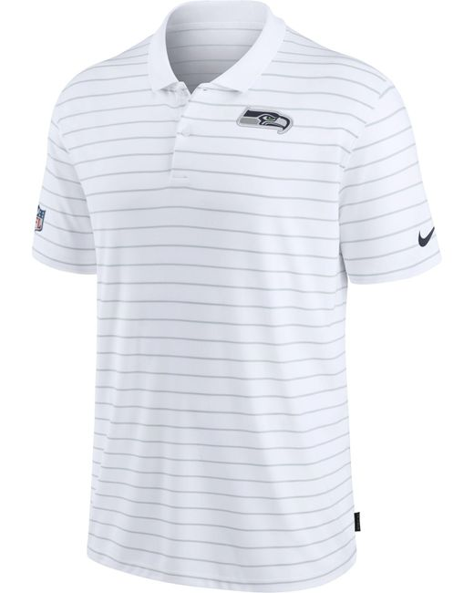 Nike Seattle Seahawks Sideline Early Season White Performance Polo for men