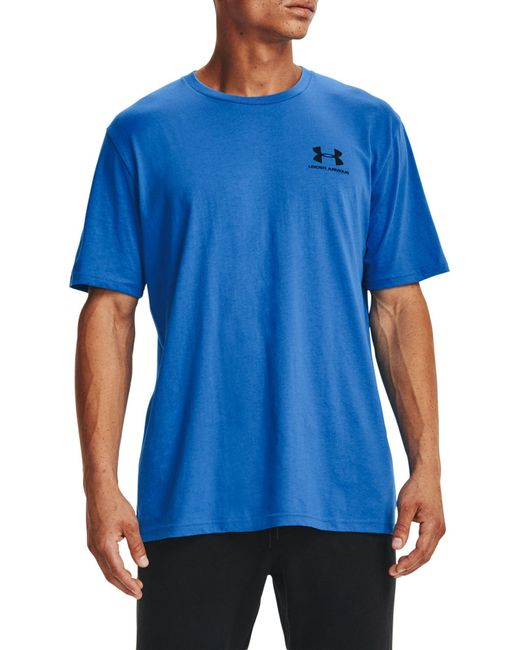 Under Armour Blue Sportstyle Left Chest Graphic T-shirt (regular And Big & Tall) for men