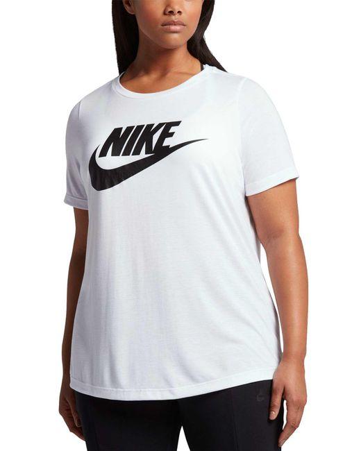 Nike - White Plus Size Sportswear Essential T-shirt - Lyst