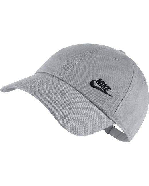 Nike - Gray Twill H86 Adjustable Hat - Lyst