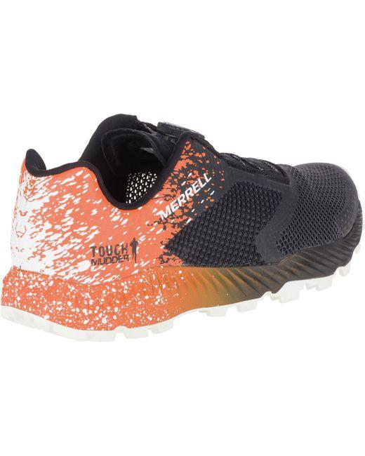543a7adafdd ... Merrell - Orange All Out Crush 2 Tough Mudder Boa Trail Running Shoes  for Men ...