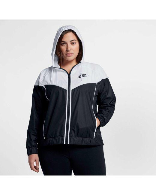 ... Nike - Black Plus Size Sportswear Windrunner Jacket - Lyst ... f076260c2