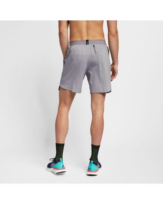 2774097337c99 ... Nike - Gray Flex Stride 2-in-1 Running Shorts for Men - Lyst ...