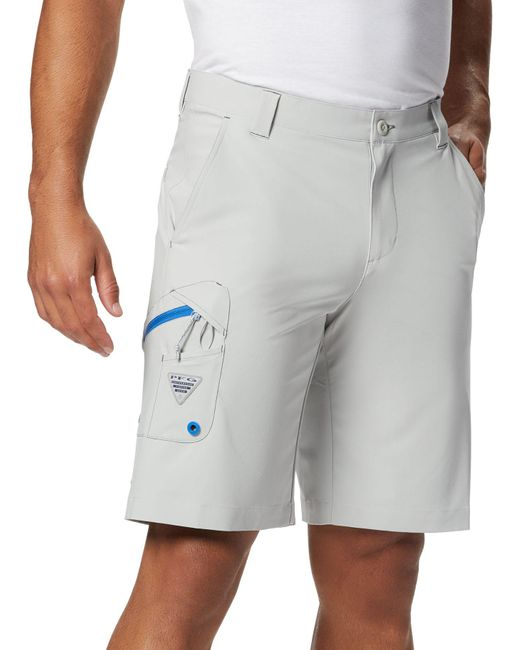 Columbia Gray Terminal Tackle Shorts for men