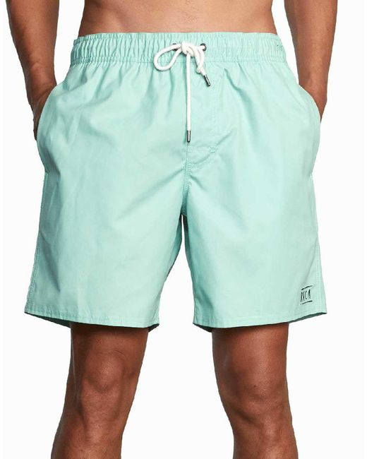 RVCA Green Opposites Elastic 2 Board Shorts for men