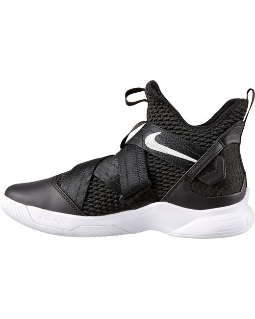 buy popular 25d38 2c73d Men's Black Zoom Lebron Soldier 12 Basketball Shoes