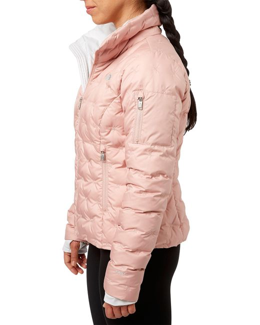 be860b5a2cd1a Lyst - The North Face Holladown Crop Jacket in Pink - Save 60%