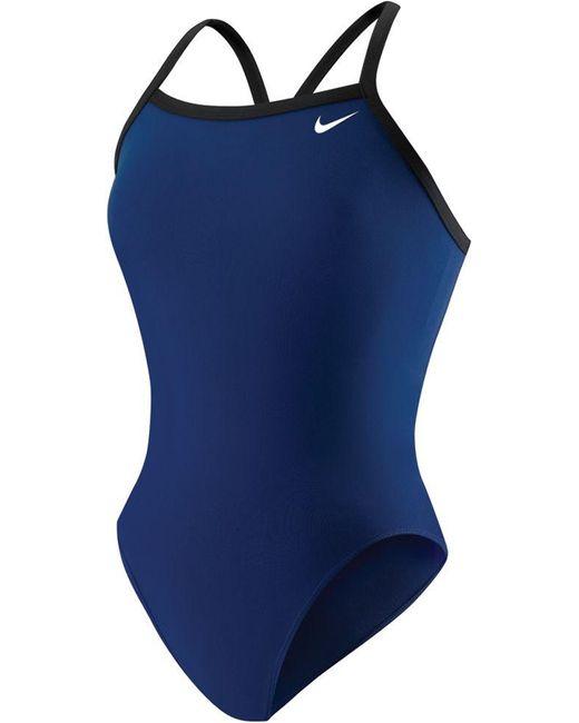 Nike Blue Poly Core Lingerie Tank Swimsuit