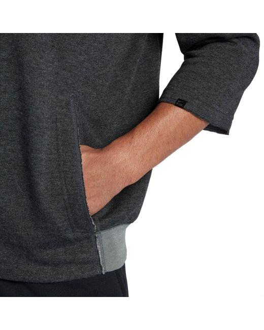 8821016071a9b ... Nike - Gray 3 4 Fleece Crew Flux Baseball Shirt for Men - Lyst ...