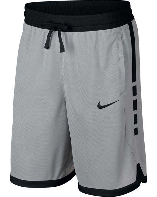 6313177529de Nike - Gray Dry Elite Stripe Basketball Shorts for Men - Lyst ...