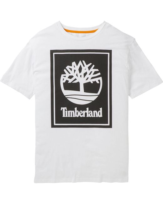 Timberland Black Stack Logo T-shirt for men