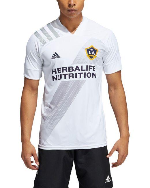 Adidas Multicolor Los Angeles Galaxy Javier 'chicharito' Hernandez #14 Primary Replica Jersey for men