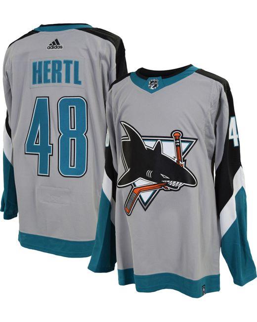 Adidas Multicolor San Jose Sharks Tomas Hertl #48 Reverse Retro Adizero Authentic Jersey for men