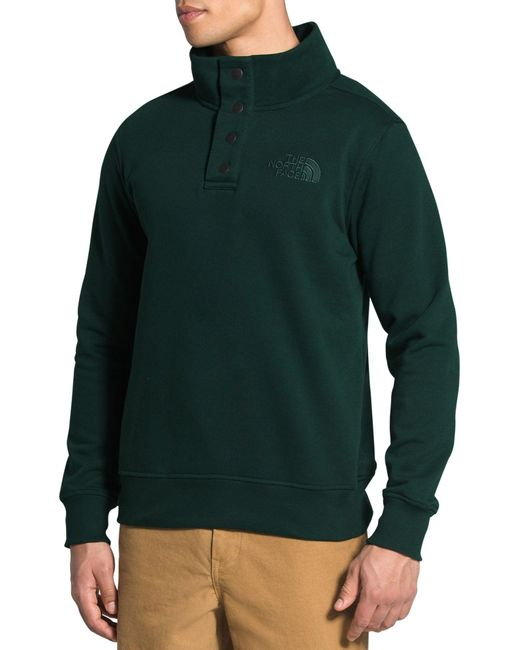 The North Face Green 1/4 Snap Fleece Pullover for men