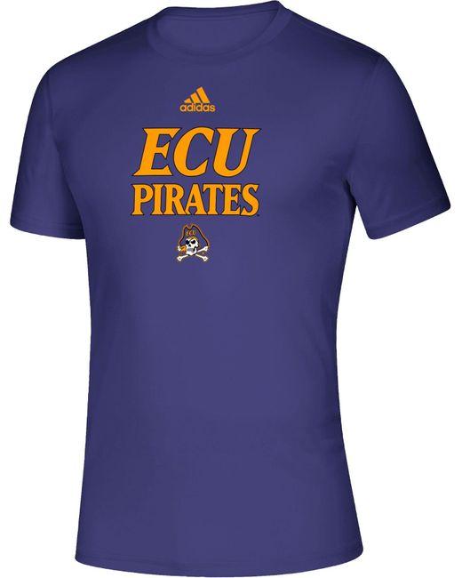 Adidas East Carolina Pirates Purple Locker Room Word Performance T-shirt for men