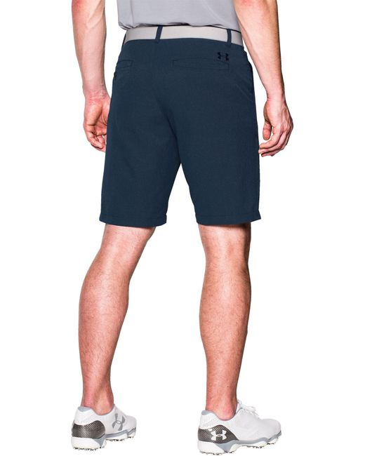 19016a2cb2a5 ... Under Armour - Blue Match Play Vented Golf Shorts for Men - Lyst ...