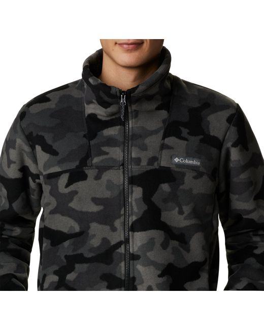 Columbia Black Winter Pass Full-zip Sherpa Fleece Jacket (regular And Big & Tall) for men