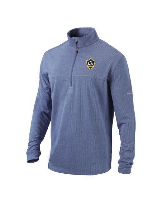Columbia Blue Los Angeles Galaxy Soar Quarter-zip Navy Pullover Shirt for men