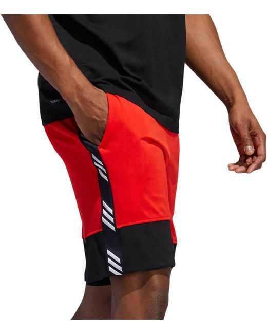 caf35c2148 ... Adidas - Red Pro Madness Basketball Shorts for Men - Lyst ...