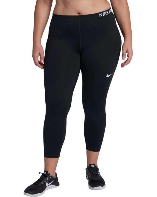 Nike - Black Plus Size Pro Training Capris - Lyst