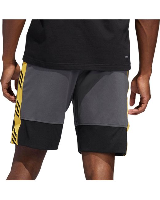 fbe138aabd ... Adidas - Gray Pro Madness Basketball Shorts for Men - Lyst ...