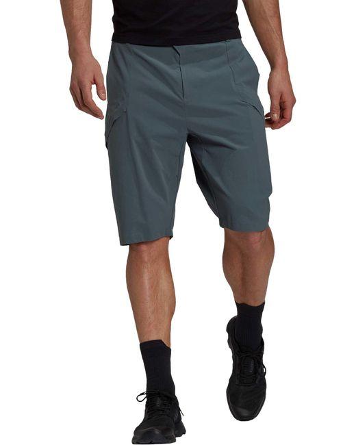 Adidas Blue Terrex Hike Shorts for men