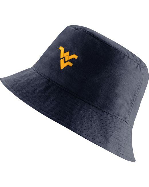 Nike West Virginia Mountaineers Blue Core Bucket Hat for men