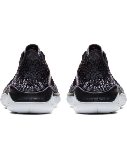 Men's Black Free Rn Flyknit 2018 Running Shoes