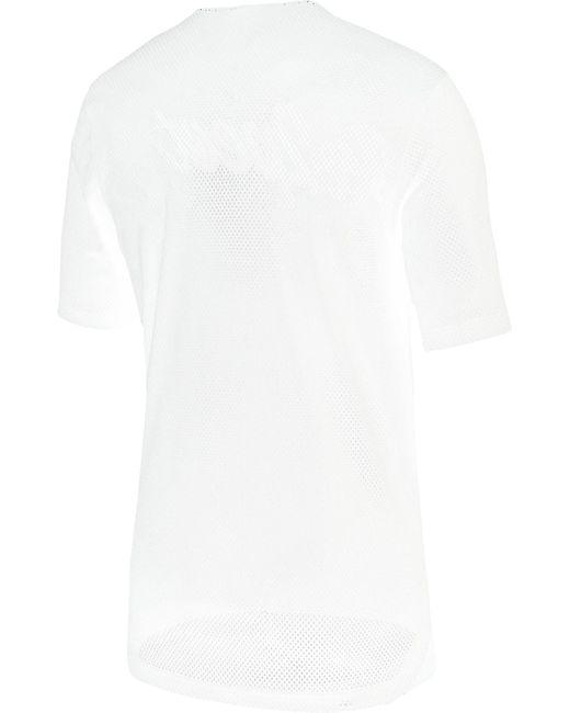 e8bb74a40cf06a ... Nike - White Re2pect Graphic Baseball Jerse for Men - Lyst ...