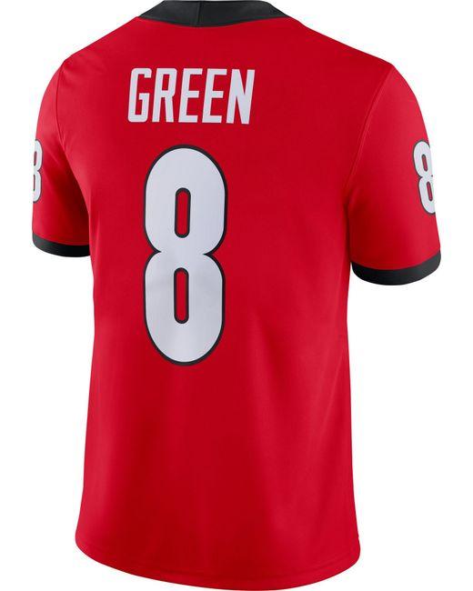 Aj Green Georgia Bulldogs #8 Red Dri-fit Game Football Jersey