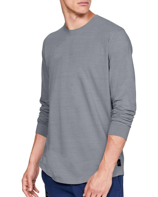 Under Armour - Gray Sportstyle Long Sleeve Shirt for Men - Lyst