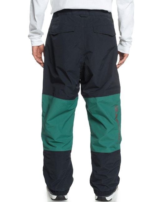 Quiksilver Green Beater Shell Snow Pant for men