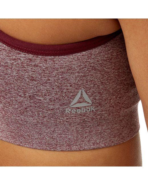 988c9727976 ... Reebok - Multicolor Seamless Front Interest Sports Bra - Lyst ...