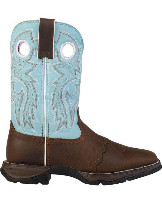Durango - Blue Lady Rebel Powder N' Lace Western Boots - Lyst